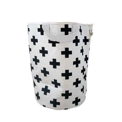 WILDFIRE KIDS TOY STORAGE BAG in Crosses with White Handles