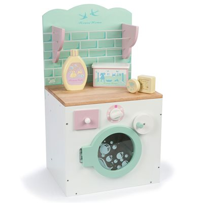 LE TOY VAN HONEYHOME WOODEN PLAY WASHING MACHINE with Rotating Drum