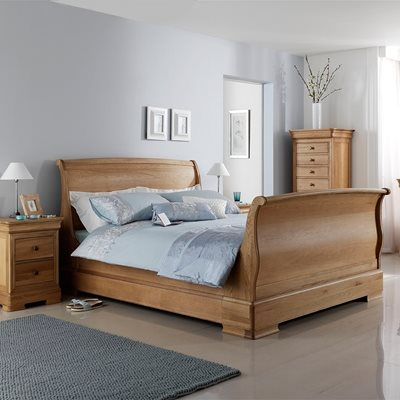 WILLIS & GAMBIER LYON WOODEN SLEIGH BED FRAME