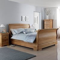 WILLIS & GAMBIER LYON WOODEN SLEIGH BED FRAME  King