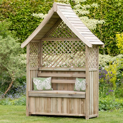 Zest 4 Leisure Norfolk Garden Arbour with Storage Box