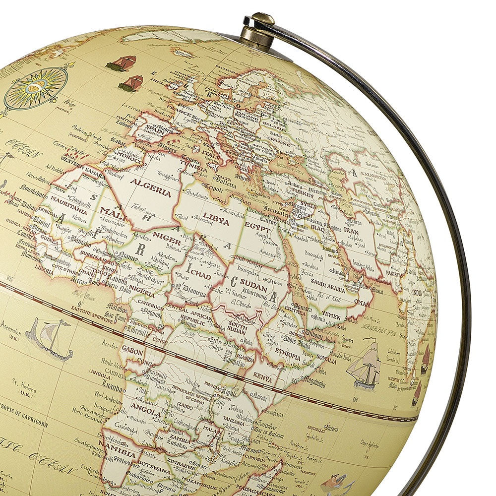 Wild wolf light up 10 globe in vintage wild and wolf cuckooland traditional vintage style light up world map globe gumiabroncs Images