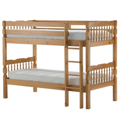 WESTON KIDS BUNK BED FRAME in Solid Pine By Birlea