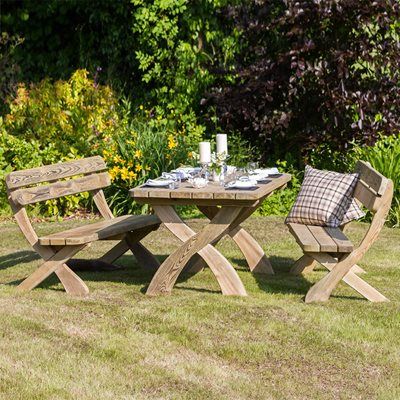 Zest 4 Leisure Wooden Harriet Garden Table & Bench Set
