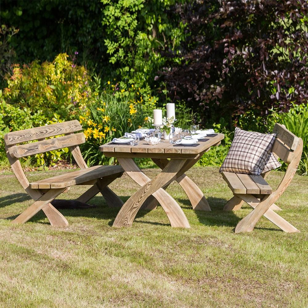 Zest 4 Leisure Wooden Harriet Garden Table And Bench Set