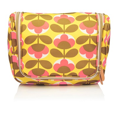 ORLA KIELY LARGE HANGING WASH BAG in Oval Flower