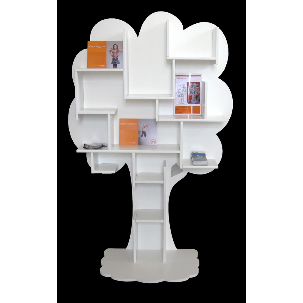 babyletto in spruce white tree bookcase free shipping