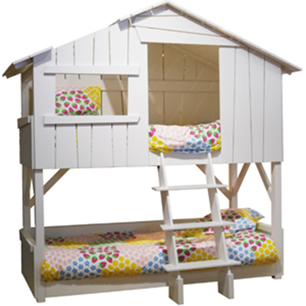 Kids treehouse bunkbed mathy by bols cuckooland for Treehouse toddler bed