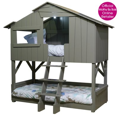 KIDS TREEHOUSE BEDROOM BUNKBED in Artichoke