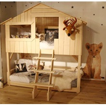 Mathy By Bols Treehouse Bunk Bed In Natural Pine Amp Mdf