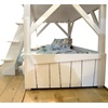 Side View of Mathy By Bols Treehouse Bunkbed in White