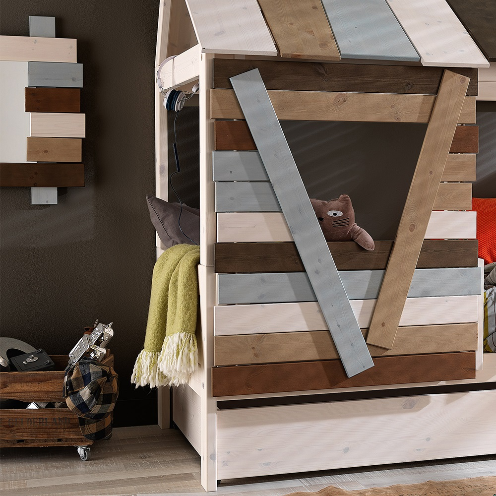 Low tree house kids cabin bed fun kids beds cuckooland for Treehouse toddler bed