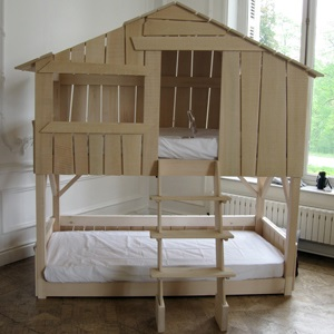Kids Treehouse Bunk Bed in Natural Pine MDF Cuckooland