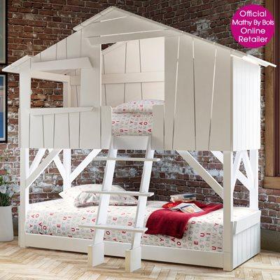 KIDS TREEHOUSE BEDROOM BUNKBED in White