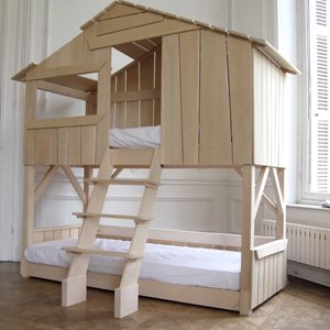 MATHY BY BOLS TREEHOUSE BUNK BED in Natural Lime Wood