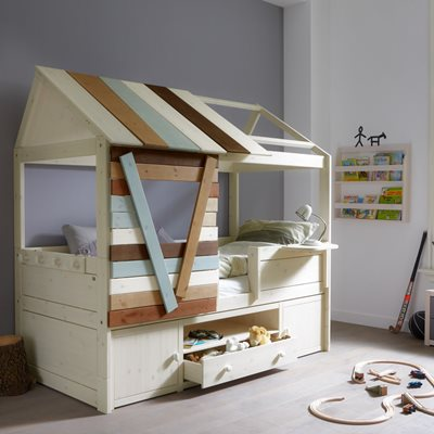 CHILDRENS TREEHOUSE CABIN BED with Storage