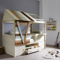 CHILDRENS TREE HOUSE CABIN BED with Storage