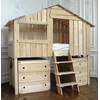 Single Kids Cabin Bed with Storage, Ladder and Drawers