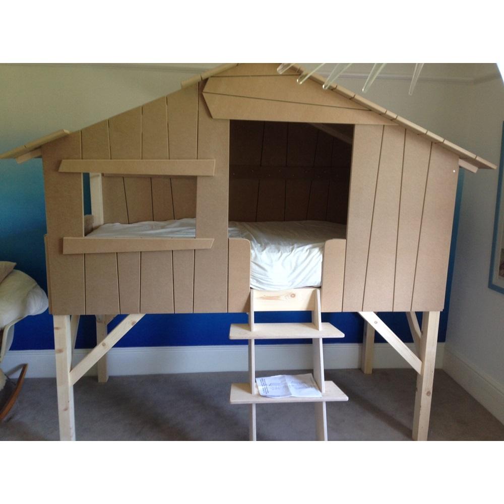 Kids Treehouse Single Cabin Bed in Pine & MDF - Kids Beds ...