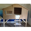 Front View of the Childrens Single High Sleeper Treehouse Bed by Mathy By Bols