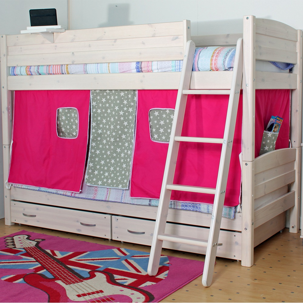 Thuka trendy kids bunk bed in whitewash pine bunk beds for Toddler bunk beds