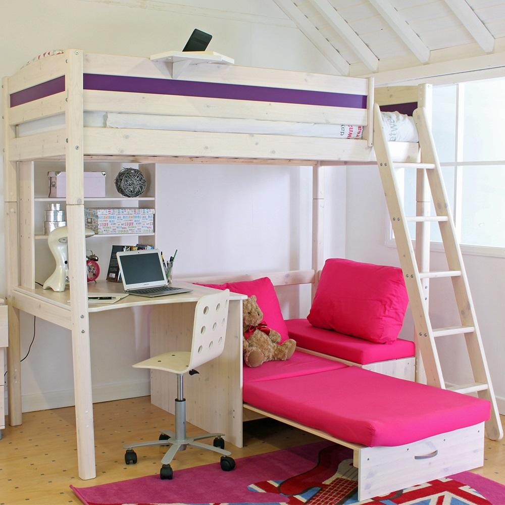 Thuka Trendy Kids High Sleeper Bed - Pine Kids Beds ...