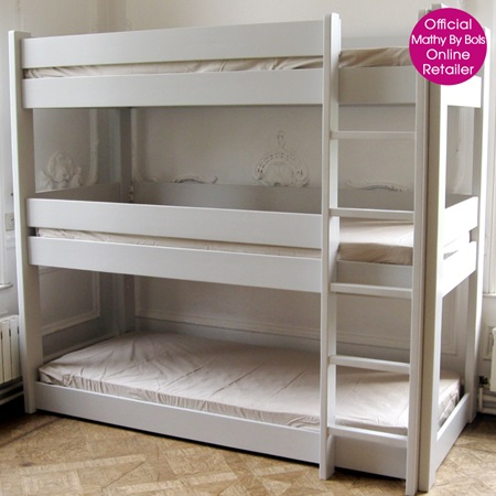 Kids 3 tier bunk bed in dominique design kids beds for 3 beds in one bunk bed