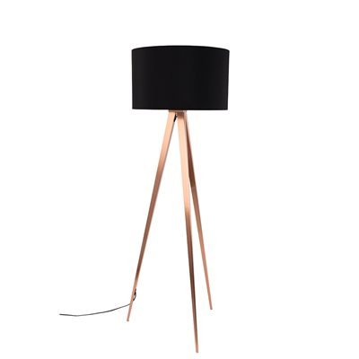 ZUIVER TRIPOD COPPER FLOOR LAMP in Black