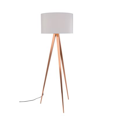 ZUIVER TRIPOD COPPER FLOOR LAMP in White