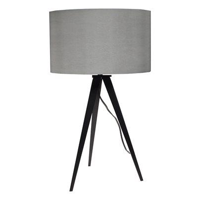 TRIPOD TABLE LAMP in Black & Grey