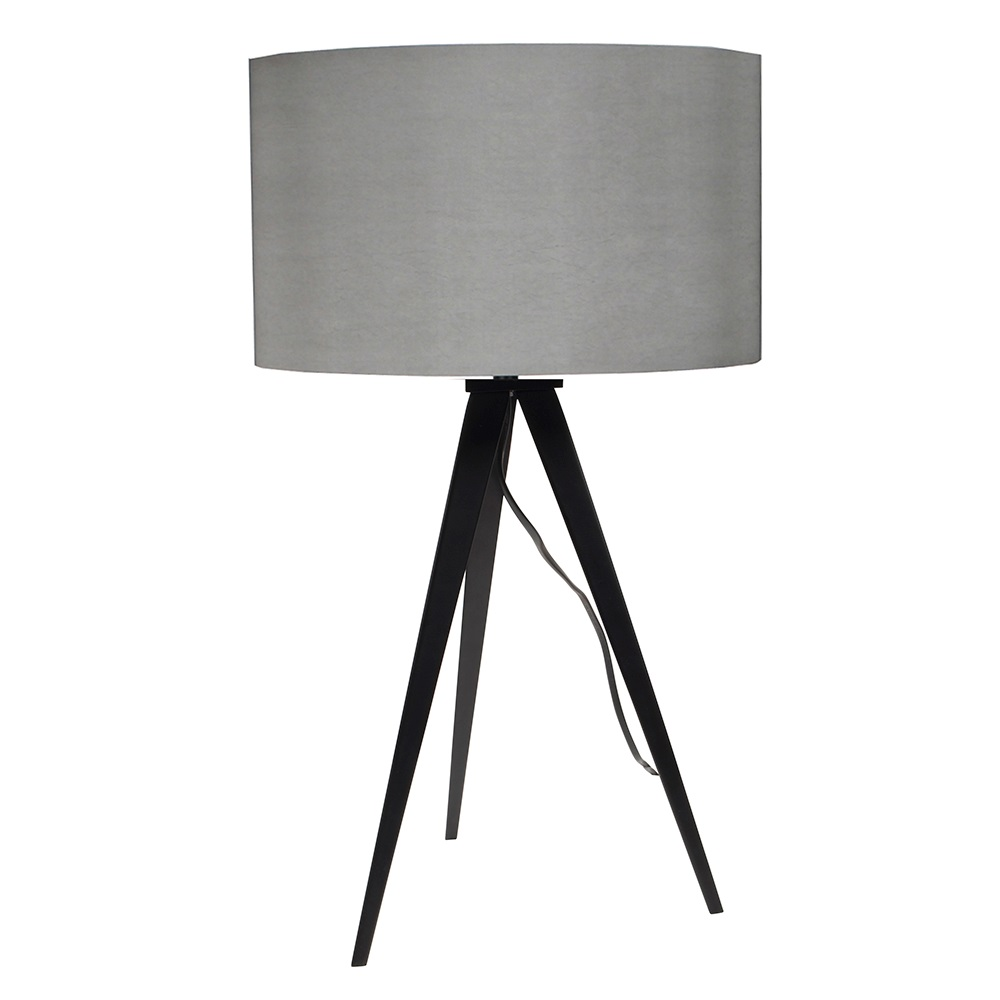 Tripod table lamp in black grey lighting cuckooland tripod table lamp black greyg mozeypictures Gallery