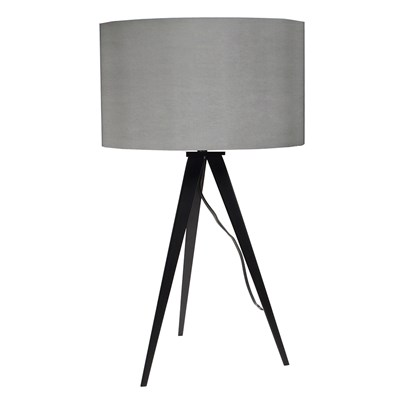 Tripod Table Lamp Black Grey ...
