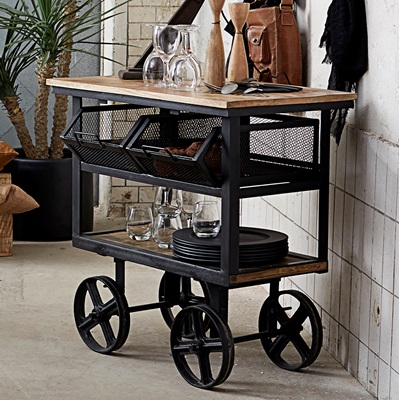 FACTORY STORAGE TROLLEY in Industrial Style