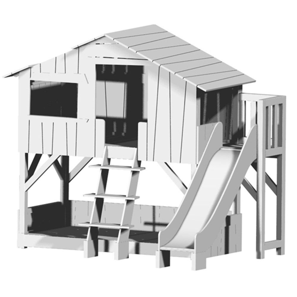 Mathy By Bols Treehouse Bunk Bed With Platform Slide Mathy By