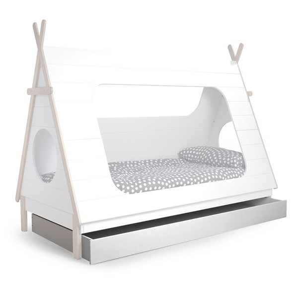 Teepee Cabin Bed Trundle Drawer by Woood