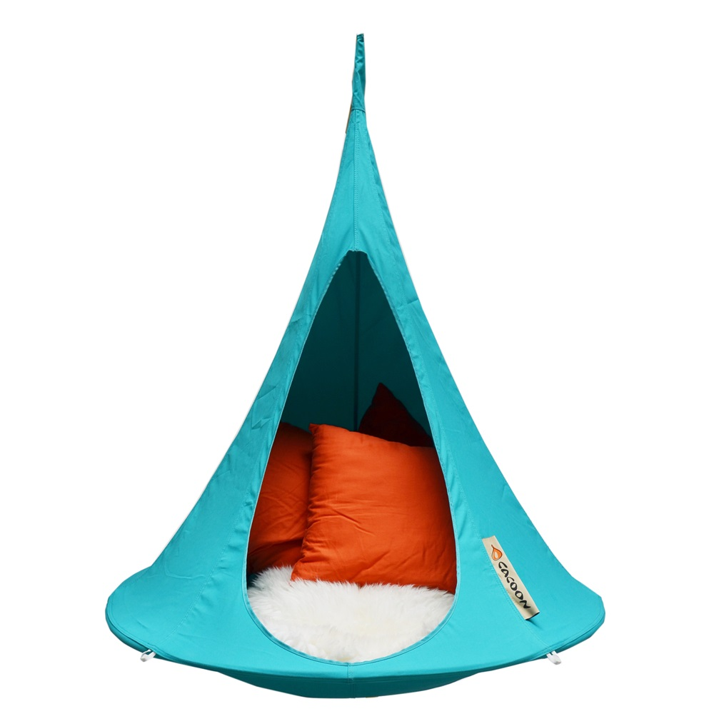 bonsai cacoon kids hanging chair in turquoise hanging. Black Bedroom Furniture Sets. Home Design Ideas