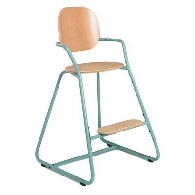 TIBU HIGH CHAIR in Aruba Blue