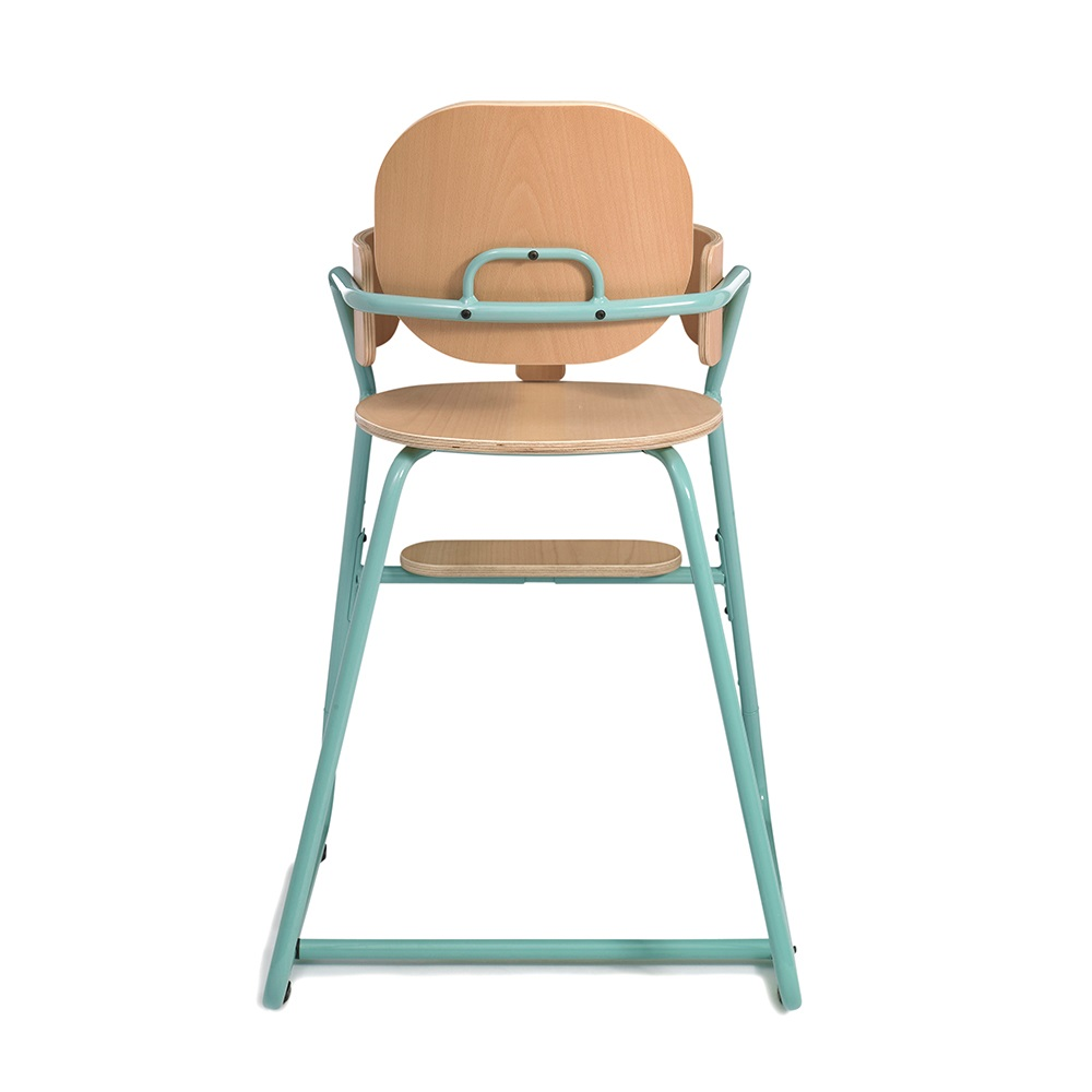 Turquoise Retro Highchair Back Jpg