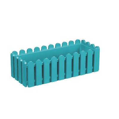 LANDHAUS ORIGINAL WINDOW BOX PLANTER in Turquoise
