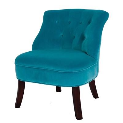 Charmant ... Turquoise Velvet Tub Chair New Legs