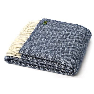 TweedMill Illusion Blue Slate Wool Throw
