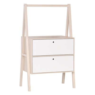 Vox Spot Chest of Two Drawers in Acacia & White