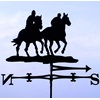 TWO HORSE RIDERS WEATHER VANE