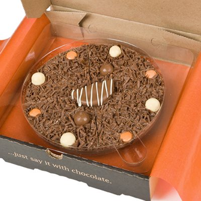 """Image of 10"""" ULTIMATELY ORANGE PIZZA by The Gourmet Chocolate Pizza Company"""