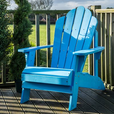 CAREFREE UNCLE JACKS ADIRONDACK CHAIR in Sky Blue