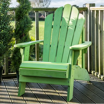 CAREFREE UNCLE JACKS ADIRONDACK CHAIR in Green