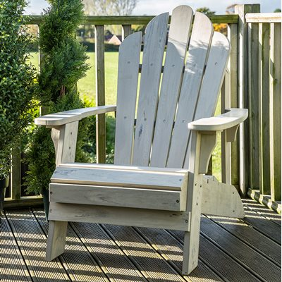 CAREFREE UNCLE JACKS ADIRONDACK CHAIR in Grey