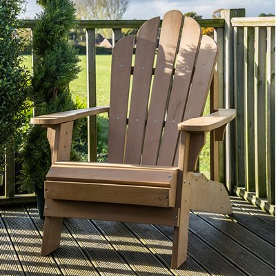 CAREFREE UNCLE JACKS ADIRONDACK CHAIR in Tawny