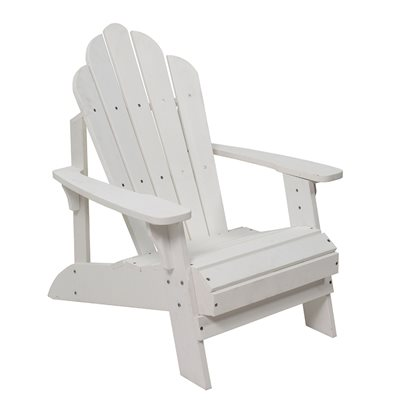 CAREFREE UNCLE JACKS ADIRONDACK CHAIR in White