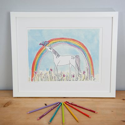 UNDER THE RAINBOW ILLUSTRATED PRINT by Sarah Lovell